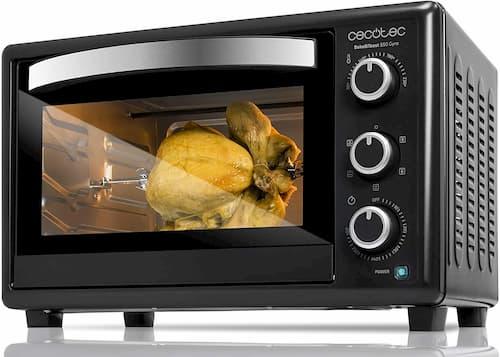 horno de sobremesa cecotec bake and toast 650 gyro 1500w